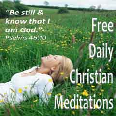 daily christian meditations