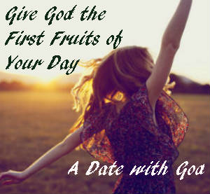 If you aren't giving God the First Fruits of your day. You could be missing out on some blessings. #datewithgod  https://www.thechristianmeditator.com/datewithgod/
