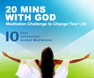 20 minutes with god christian meditation challenge