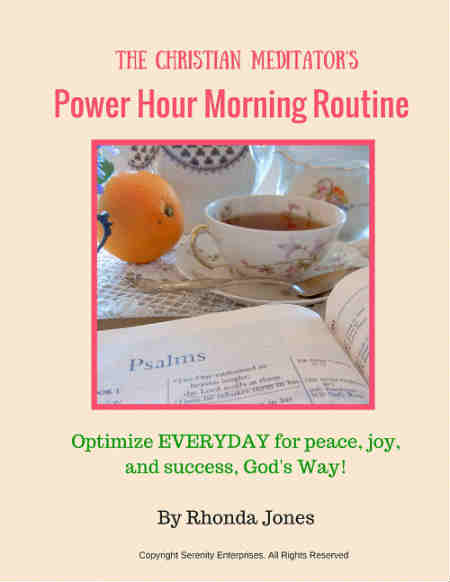 the christian meditator power hour morning routine guide