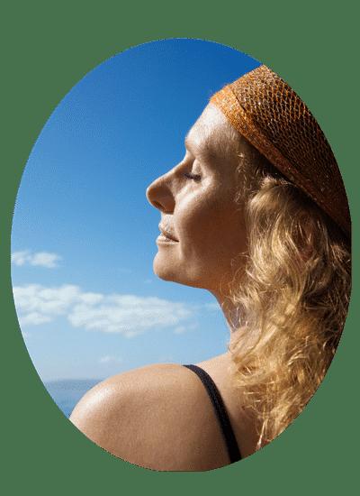 woman meditating christian